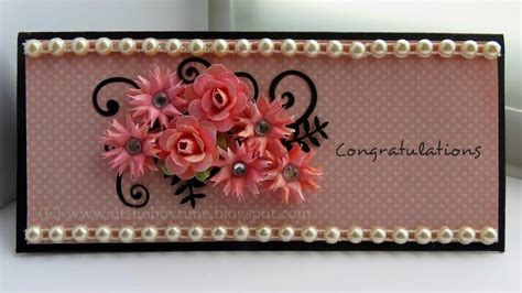 how to make card flowers uts hobby time handmade congratulations greeting