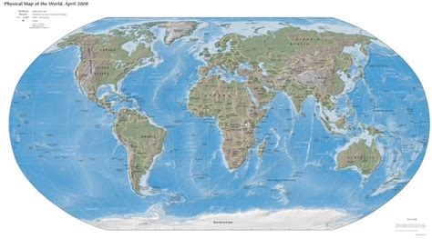 physical map of earth physical map of the world