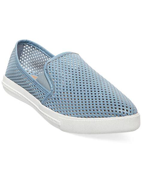 steve madden slip on sneakers steve madden s virggo slip on sneakers in blue lyst