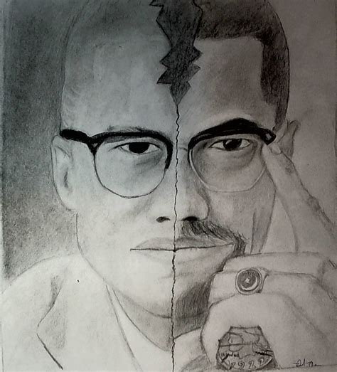 Drawing X On by Malcolm X Drawing By Dmuhsin On Deviantart