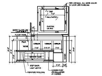 Upstairs Floor Plans Home Bar Plans Design Blueprints Drawings Back Bar Counter