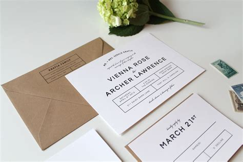 Wedding Invitation Modern modern wedding invitations two