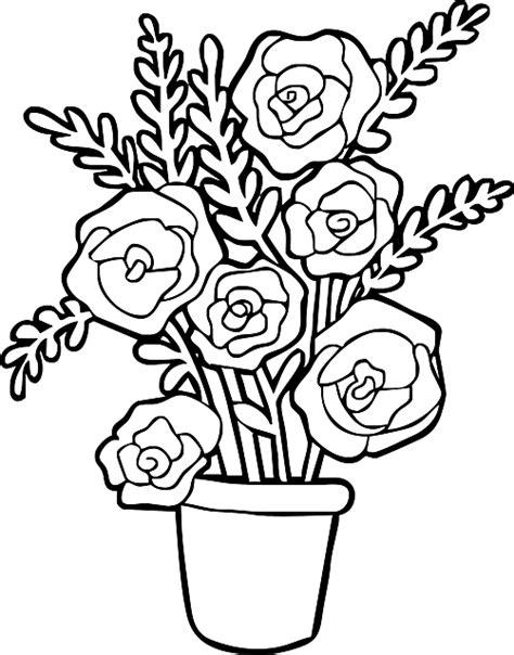 vaso di fiori da colorare vaso di disegni da colorare disegni da colorare