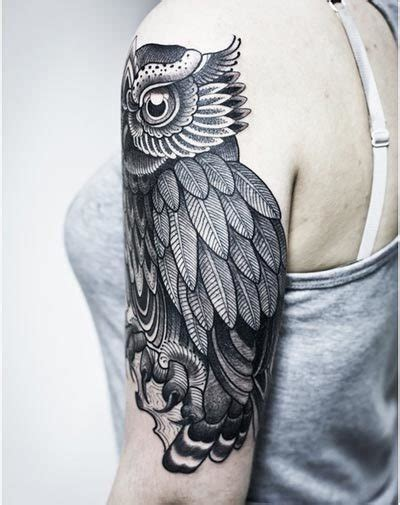 owl tattoo black and white black and grey owl tattoo images