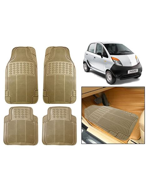 Where Can I Buy Car Mats by Autosun Beige Rubber Floor Mats For Tata Nano Buy Autosun