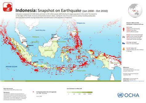 earthquake map indonesia indonesia snapshot on earthquake jan 2000 oct 2010