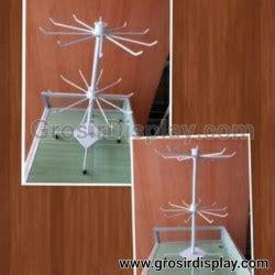 Gantungan Aksesoris Matahari 7 Susun Putar Roda Rak Display Coatin grosir display supplier perlengkapan display anda