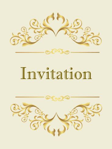 classic invitation card template classic golden invitation card birthday greeting cards