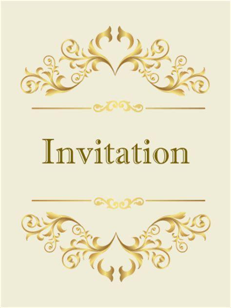 invitation card classic golden invitation card birthday greeting cards