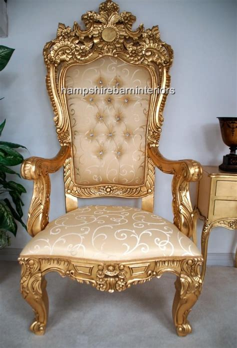 throne armchair a emperor rose large ornate throne chair hshire barn