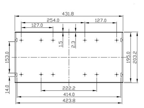 g17081ubk 19 quot rack mount abs enclosure 1u velleman