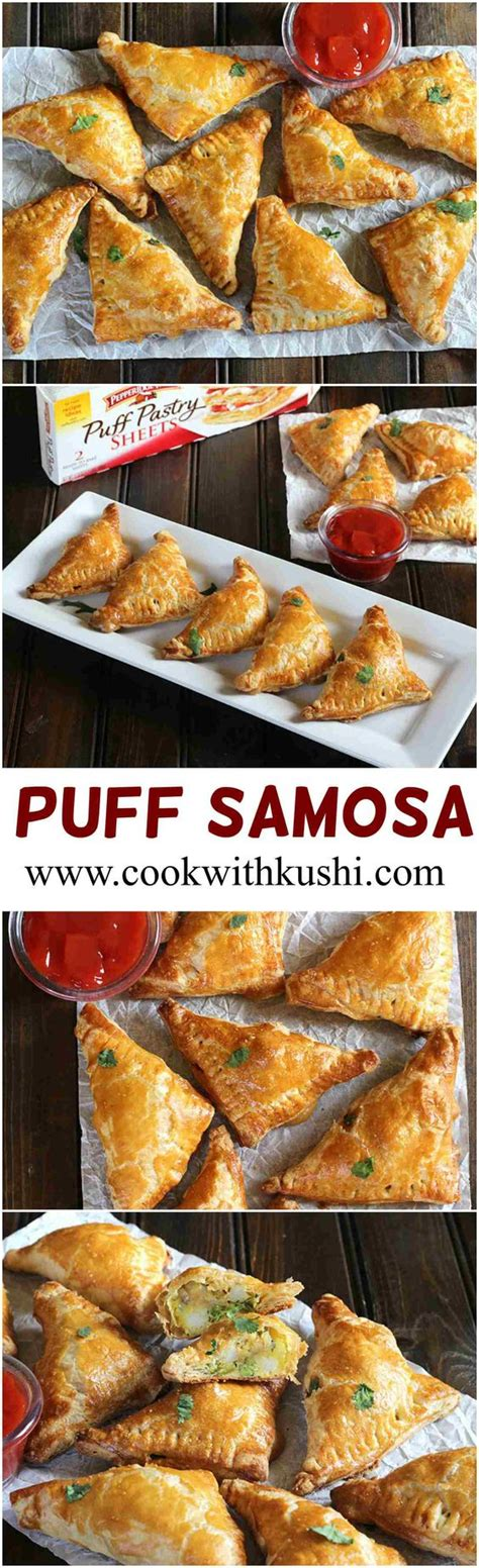 finger foods for christmas gatherings puff samosa is a easy to make delicious appetizer with the crispy and golden flaky texture on