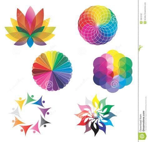 conjunto de colores del arco iris de las ruedas de color