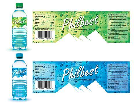 label design behance philbest pure water bottle label design on behance