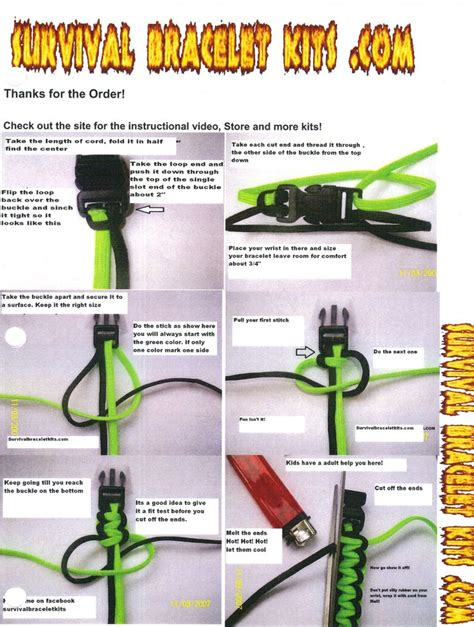 printable paracord instructions details about survival bracelet instructions includes cord