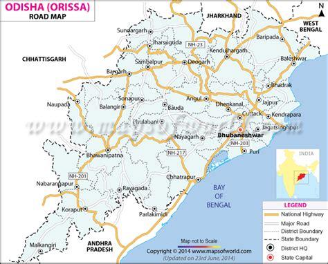 odisha road map