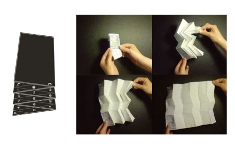 Origami Phone - future phones dazzle with design wired