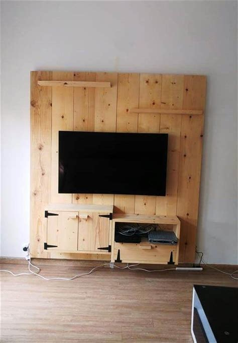 media wall ideas diy wooden media wall tv panel diy and crafts