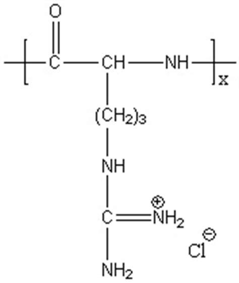 Poly(L-arginine hydrochloride), CAS#26982-20-7 | Alamanda ... L Arginine Structure