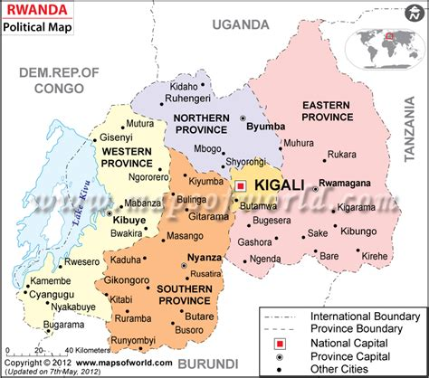 rwanda map political map of rwanda rwanda provinces map