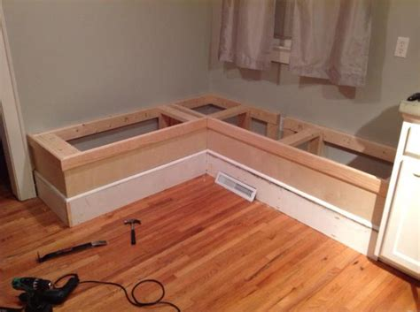 building a breakfast nook bench make custom breakfast seating nook recipe box dma homes 88224