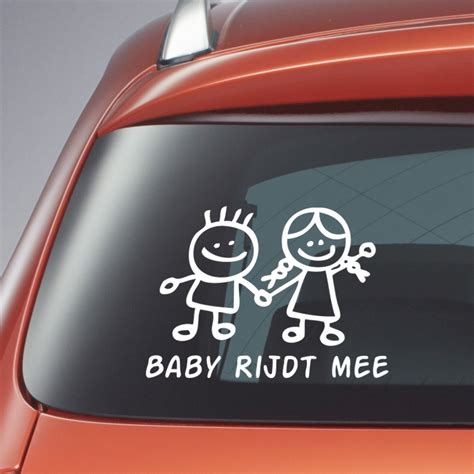 Auto Sticker At by Baby Aan Boord Sticker Babyrijdtmee Be