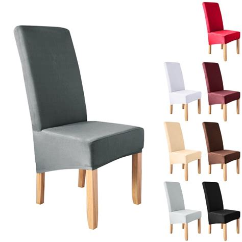 meaddhome solid spandex stretch dining chair cover party