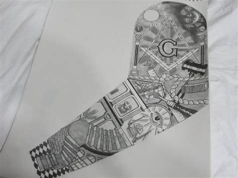 masonic tattoo masonic forums tattoomagz masonic sleeve by gdc1072 on deviantart