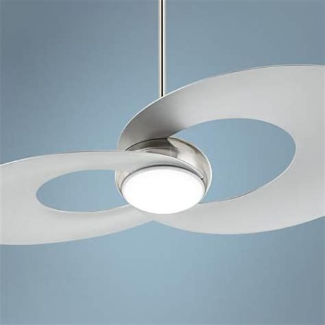 led ceiling fans 52 quot innovation brushed nickel led ceiling fan