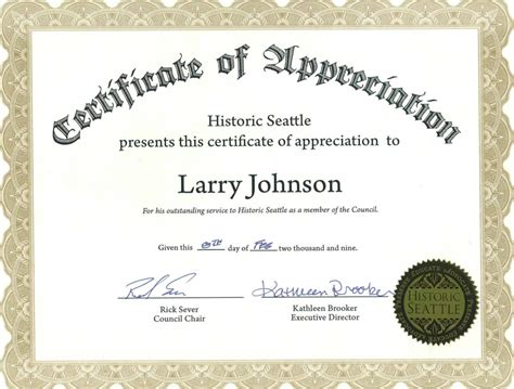 appreciation certificate certificate templates