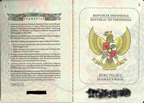 syarat membuat paspor pelaut cikal bapa blognothing seaman s book buku pelaut