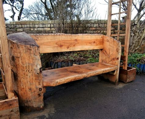 rustic log bench rustic log bench for play parks caledonia play outdoor