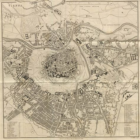 vienna map large detailed map of vienna city 1858 vienna city large detailed map of 1858 vidiani