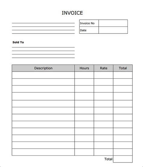 free pdf template blank service invoice template free editable invoice
