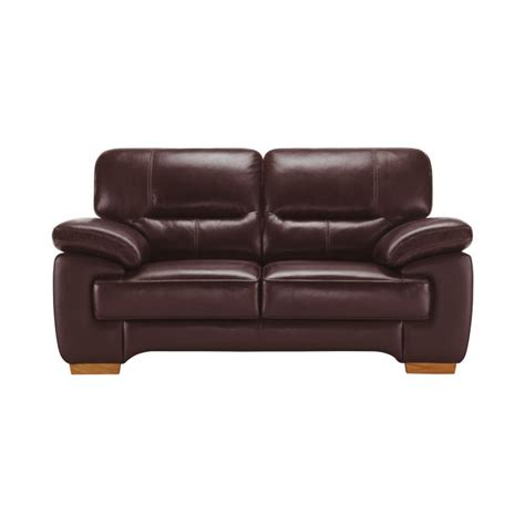 Clayton Leather Sofa Clayton 2 Seater Sofa In Burgundy Leather Oak Furniture Land