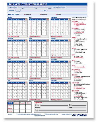 2018 Employee Vacation Request Calendar Calendar Template 2018 Calendar For Attendance Tracking Calendar Template 2018
