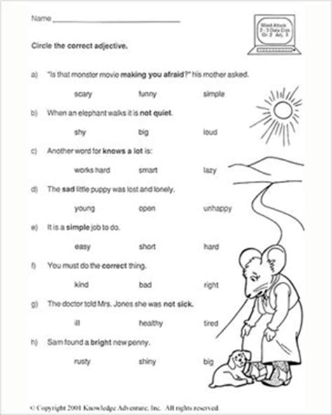 test your word power vi 2nd grade english worksheet