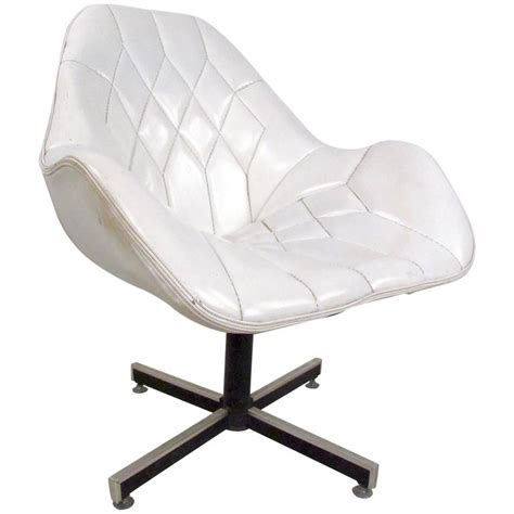 mid century modern swivel chair mid century modern tufted swivel lounge chair for sale at