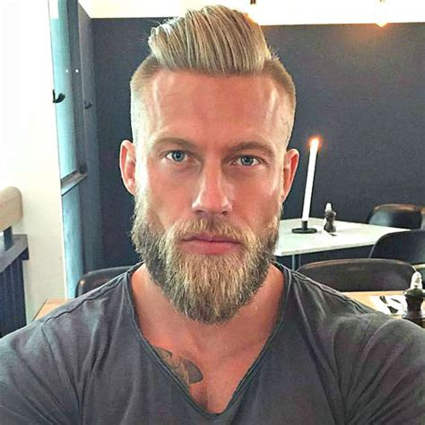slick back hair and beard undercut hairstyle for men men s haircuts hairstyles 2018