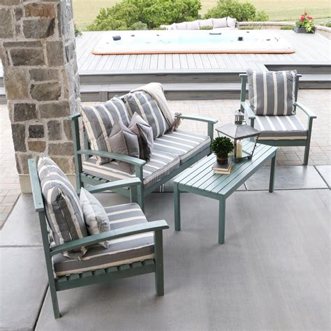Patio Furniture Company by Walker Edison Furniture Company Grey Acacia Wood 4