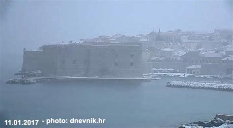 dubrovnik snow snow in dubrovnik january 2017
