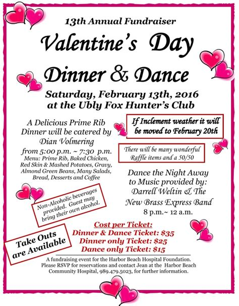 valentines fundraiser s day dinner and fundraiser for harbor