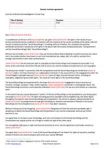 Musicians Contract Template by Session Musician Contract Template