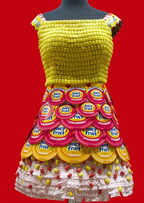 candy couture  dresses   candy wrappers