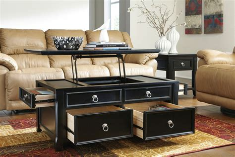 Lift Top Coffee Table With Storage Drawers by Cocktail Table With Lift Top Storage Drawers