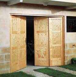 lapeyre porte de garage pliante en bois sapin photo 5