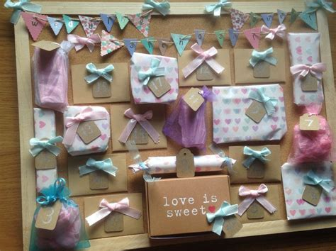 Wedding advent calendar. I made this for my best friend to