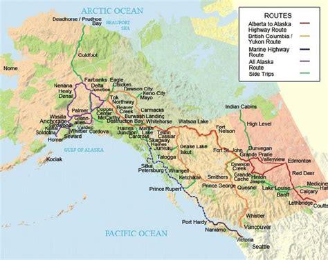 printable road map of alaska alcan highway map my blog