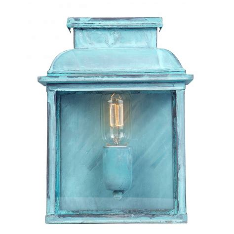 Traditional Outdoor Wall Lantern In Tarnished Verdigris Finish Fashioned Outdoor Lighting
