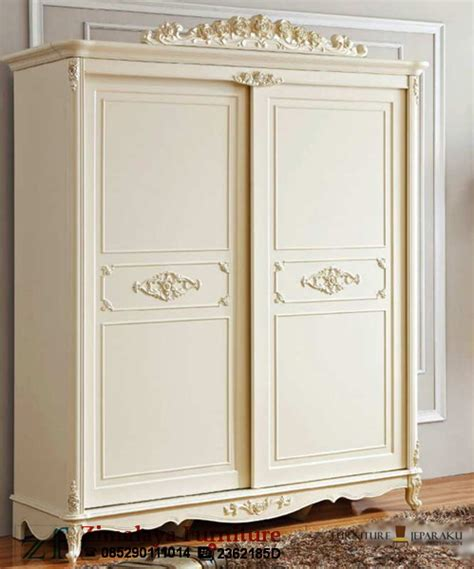 Lemari Pakaian Sliding Warna Putih Lemari Pakaian Sliding Warna Putih Zimalaya Furniture